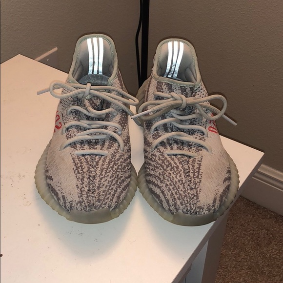 best loved 194d2 0488f Yeezy boost 100% authentic blue tint
